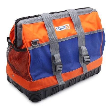 bolsa para ferramentas em lona com 12 bolsos e fundo de borracha