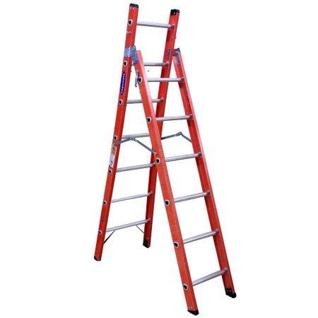 Escada de Fibra Tesoura e Singela 12 Degraus Tsh612 Cogumelo