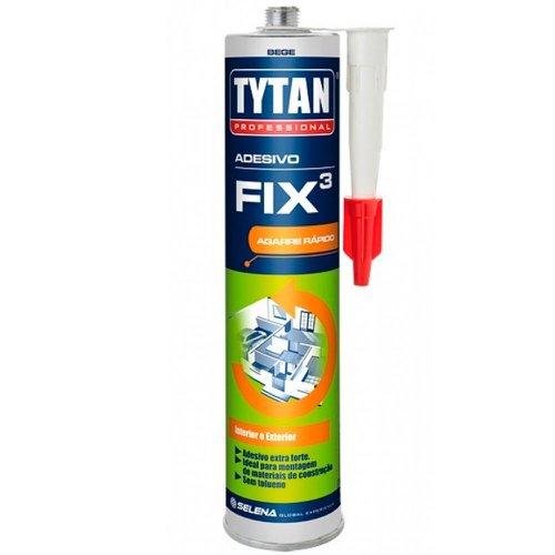 adesivo de montagem fix3 para uso externo bege 320g