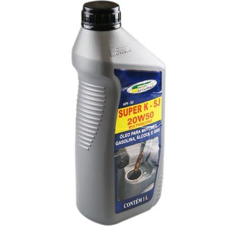 óleo mineral 20w50 para motor a gasolina, álcool e gnv com 1 litro