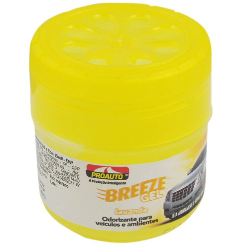odorizante para automóvel breeze gel lavanda