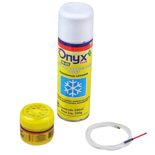 kit limpa ar condicionado com aromatizante lavanda
