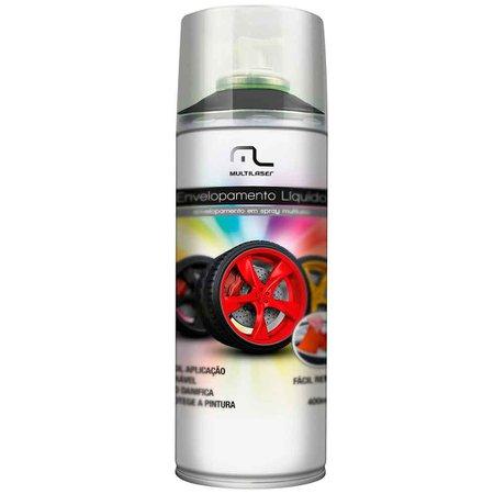 envelopamento líquido preto fosco em spray - 400ml