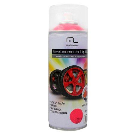 envelopamento líquido vermelho fluorescente em spray - 400ml