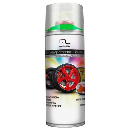 envelopamento líquido verde fluorescente em spray - 400ml
