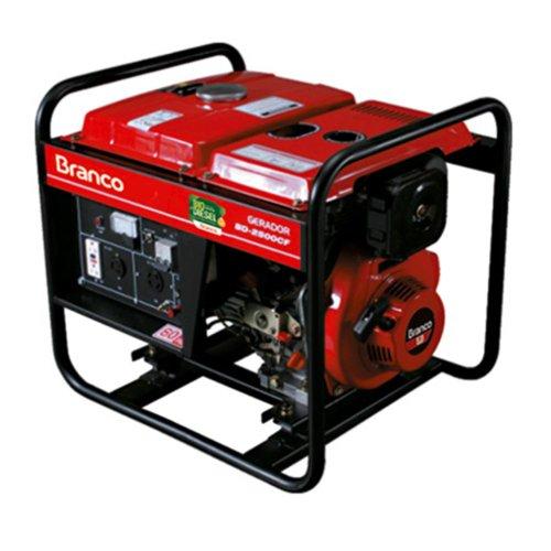 Gerador de Energia Diesel 2200w Branco Monofásico Bivolt - Bd2500e