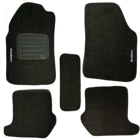 jogo de tapetes eco sport 03/12 preto com 5 peças