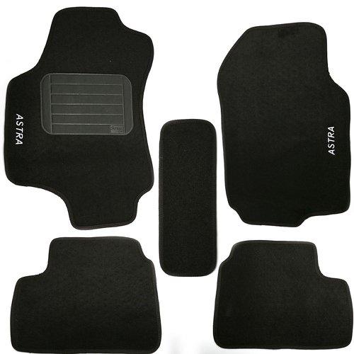 jogo de tapetes astra 03/12 preto com 5 peças
