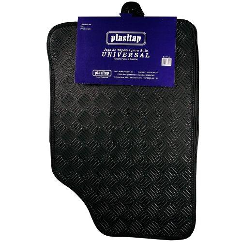 jogo de tapetes laminado preto para automóveis