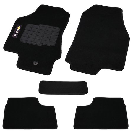 jogo de tapetes carpete astra à partir de 1999 preto com 5 peças