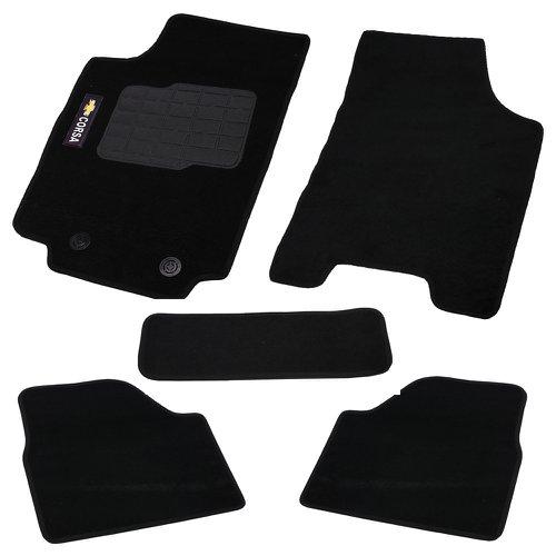 jogo de tapetes carpete corsa à partir de 02 preto com 5 peças