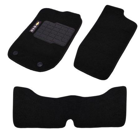 jogo de tapetes carpete s10 cabine dupla 2011 preto com 3 peças