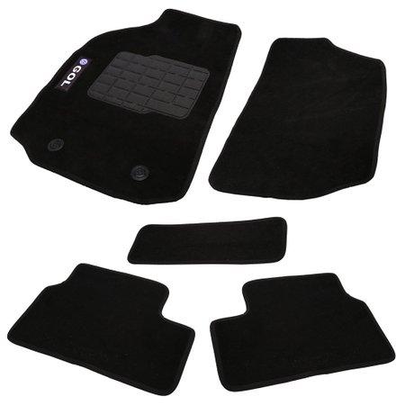 jogo de tapetes carpete gol g2/3/4 universal preto com 5 peças