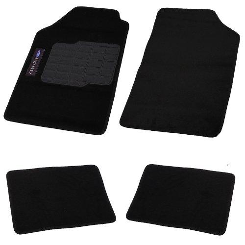 jogo de tapetes carpete fox universal preto com 5 peças
