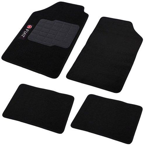 jogo de tapetes carpete fiat universal preto com 4 peças