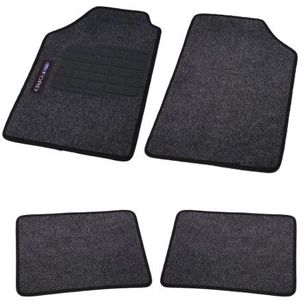 jogo de tapetes carpete ford universal grafite com 4 peças