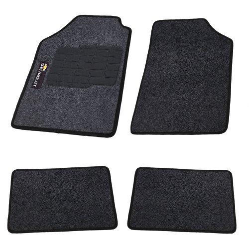 jogo de tapetes carpete chevrolet universal grafite com 4 peças