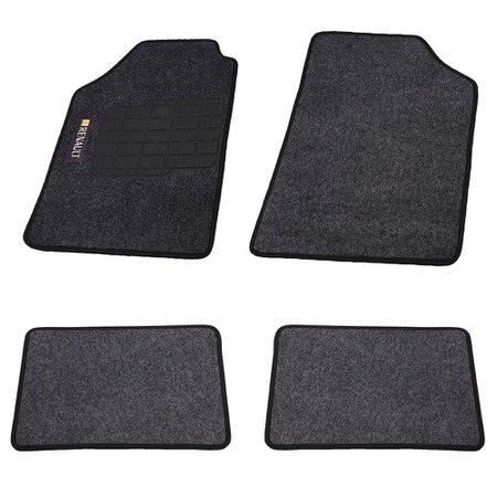 jogo de tapetes carpete renault universal grafite com 4 peças