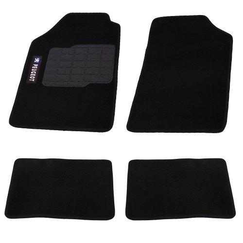 jogo de tapetes carpete peugeot universal preto com 4 peças