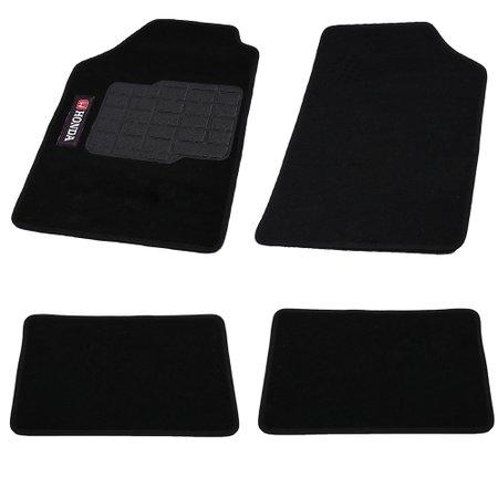 jogo de tapetes carpete honda universal preto com 4 peças