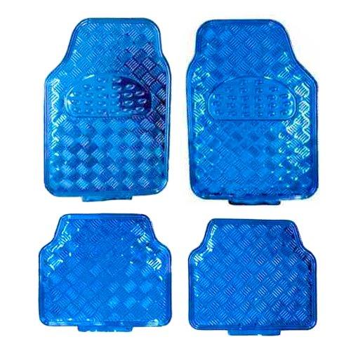 jogo de tapetes em alumínio azul para automóveis