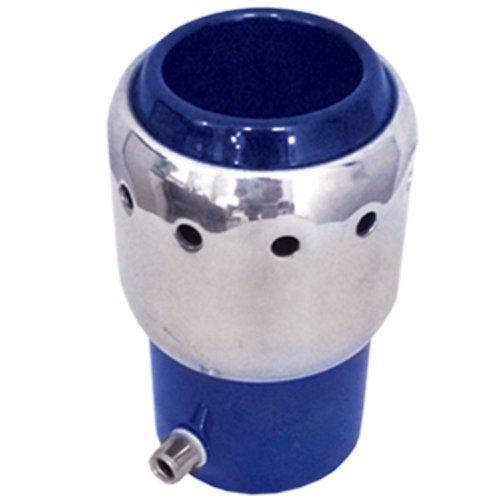 ponteira para escapamento linha turbo 032 reta 2 1/16 pol. azul