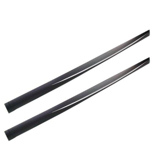 spoiler lateral universal sport kar aplicável preto com detalhe em alumínio