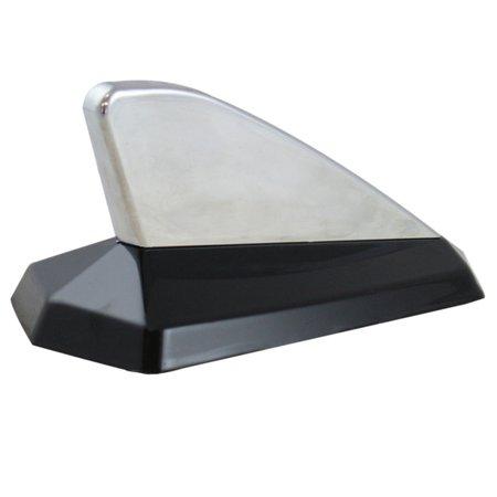 antena decorativa tipo tubarão - cromado / preto