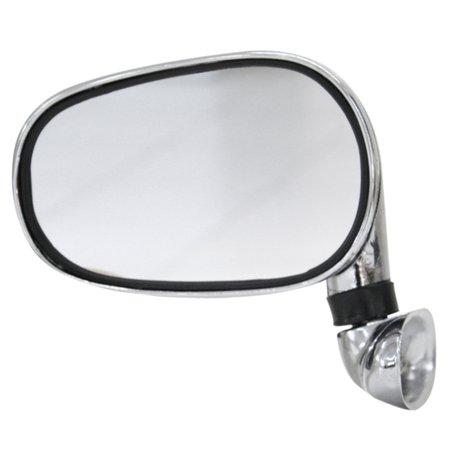 espelho retrovisor externo cromado prata universal do lado direito ou esquerdo