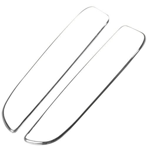 aplique cromada para maçaneta externa da porta do astra e zafiras com 02 peças