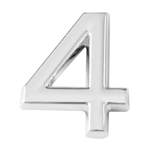 número 4 cromado em abs 39 mm