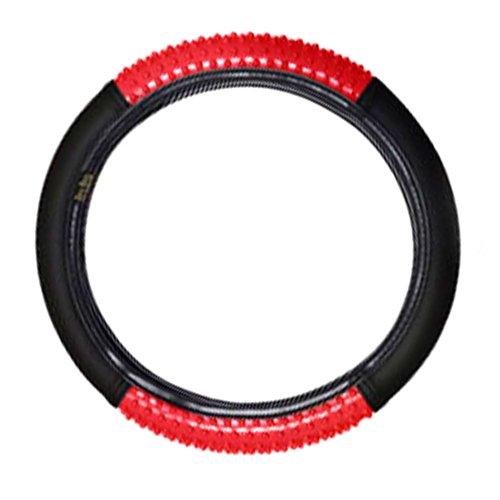capa para volante preto com vermelho