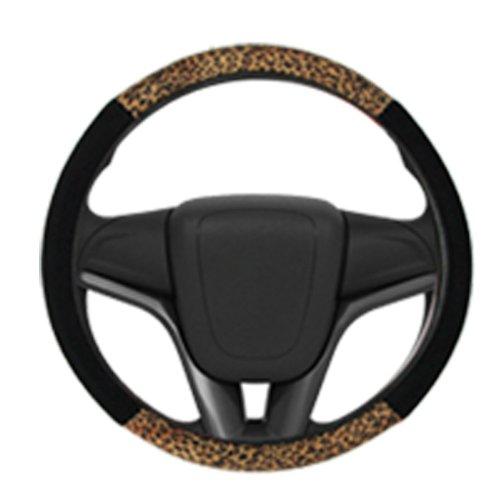 capa para volante preto com onça