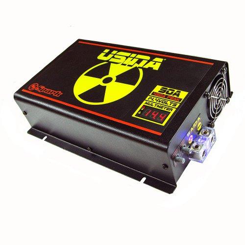fonte automotiva 90a 14,4v com voltímetro/amperímetro digital bivolt automático