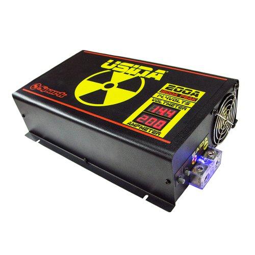 fonte automotiva 200a 14,4v com voltímetro/amperímetro digital bivolt automático