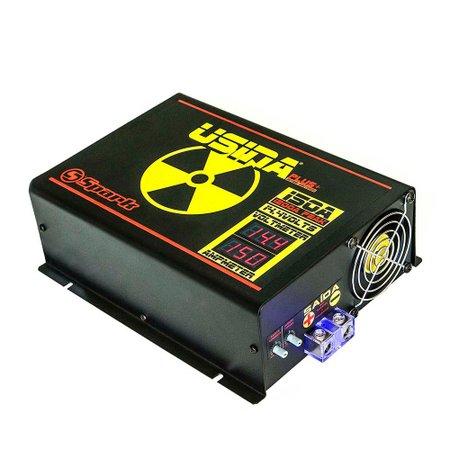 fonte automotiva 150a plus+ 14,4v com voltímetro/amperímetro digital 220v