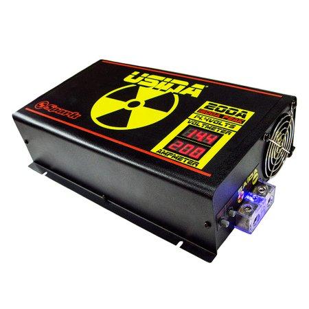 fonte automotiva 200a 14,4v com voltímetro/amperímetro digital 220v