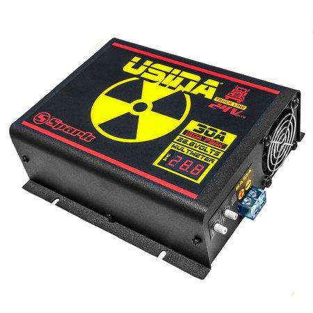 fonte automotiva 400a 14,4v com voltímetro/amperímetro digital 220v