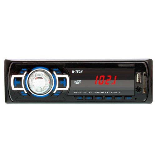 som automotivo mp3 display led com botão cromado e leitor usb, sd card e auxiliar