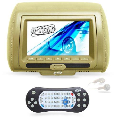 encosto de cabeça com monitor led e leitor dvd/usb/mp3/mp4 7 pol. bege