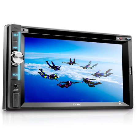 som automotivo zion 6.2 pol. lcd touchscreen dvd/cd player