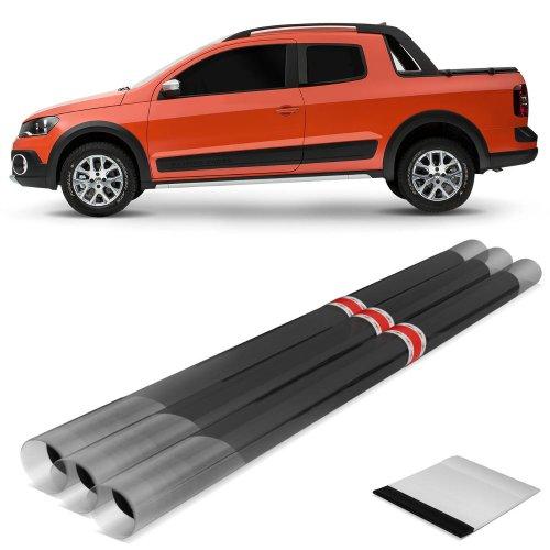 kit insulfilm fpg 20% grafite da saveiro cab. est. vidro móvel 2009 com 7 pçs