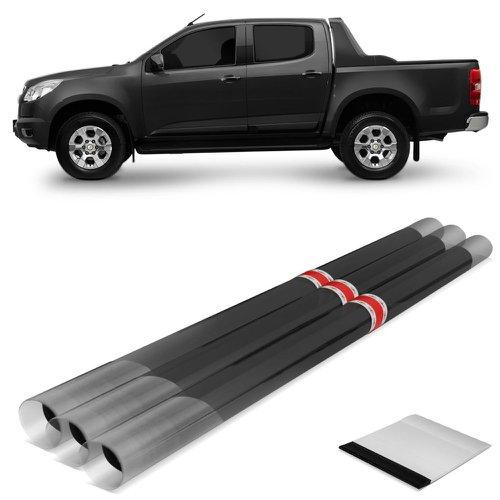 kit insulfilm fpg 05% grafite nova s-10 2012 com vidro traseiro móvel 7 peças