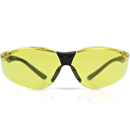 óculos de segurança cayman com lente âmbar anti embaçante