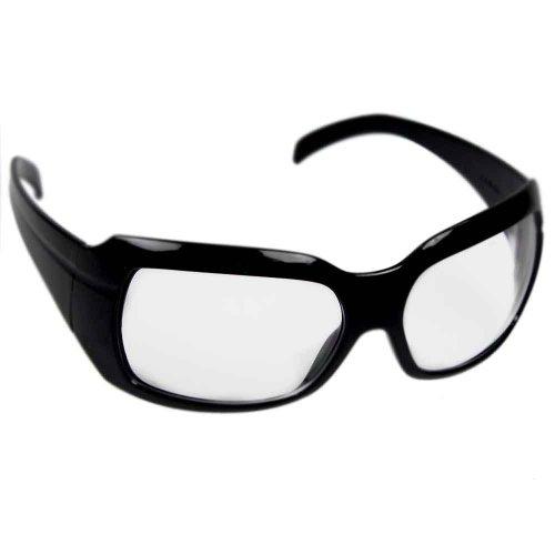 óculos de segurança incolor com armação preta - ibiza
