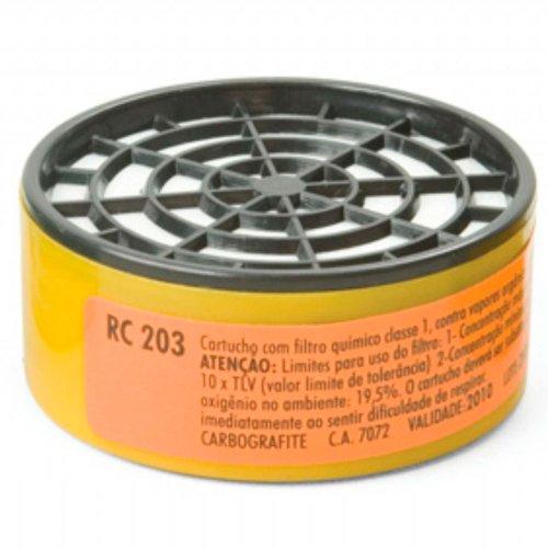 cartucho com filtro rc 203 para máscaras respirador semifacial cg 306