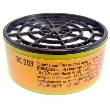 cartucho filtro para máscaras rc203