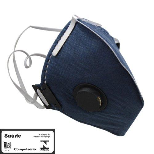 máscara respiradora semifacial pff2 carvão valvulada