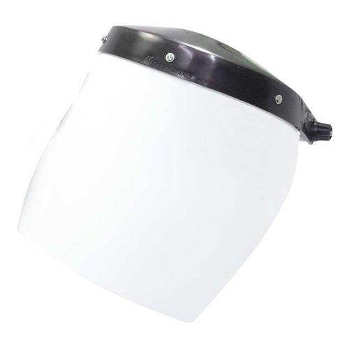 protetor facial incolor com catraca de 8 pol.