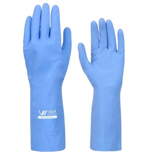luva multiuso látex standard azul com forro - extra grande